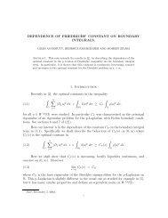 DEPENDENCE OF FRIEDRICHS' CONSTANT ON ... - CiteSeerX