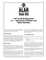 FSF ALAR Briefing Note 3.1 -- Barometric Altimeter and Radio ...
