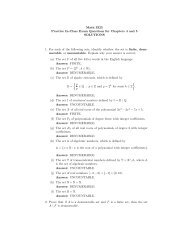 Solutions to In-Class Practice Exam