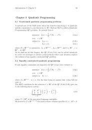 Chapter 3 Quadratic Programming