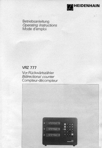VRZ 777 - heidenhain