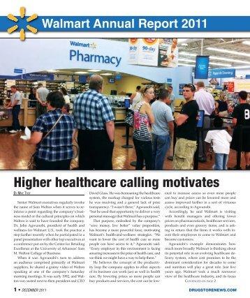 Walmart Annual Report 2011 - Drug Store News