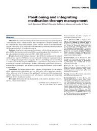 Positioning and integrating medication therapy ... - Drug Store News