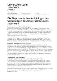 Die Stajerska.pdf - Universalmuseum Joanneum