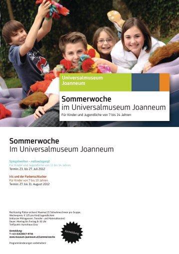 Programm Sommerwoche 2012 - Universalmuseum Joanneum
