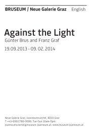 Against the Light - Universalmuseum Joanneum