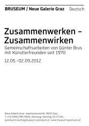 Zusammenwerken – Zusammenwirken - Universalmuseum Joanneum