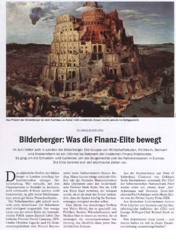 Bilderberger: Was die Finanz-Elite bewegt - Deutschelobby