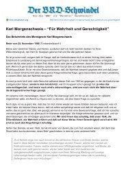 """Karl Morgenschweis – """"Für Wahrheit und ... - deutschelobby"""