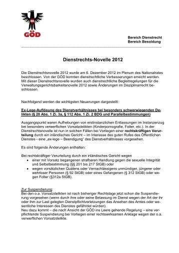Dienstrechts-Novelle 2012