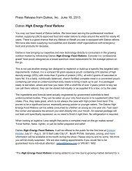 Press Release from Datrex, Inc. June 18, 2013 Datrex High Energy ...