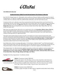 OluKai Women's & Men's SS14 Press Releases - GoExpo