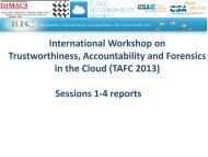 International Workshop on Trustworthiness, Accountability ... - Dimacs