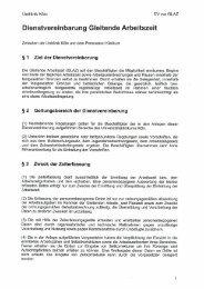 Dienstvereinbarung Gleitende Arbeitszeit - Uniklinik Köln