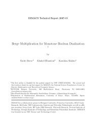 Berge Multiplication for Monotone Boolean Dualization - DIMACS
