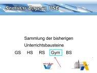Sammlung der bisherigen Unterrichtsbausteine GS HS RS Gym BS