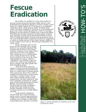 Fescue Eradication - Kentucky Department of Fish and Wildlife ...