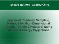 Andrea Howells - Summer 2011 Improved Roadmap Sampling ...