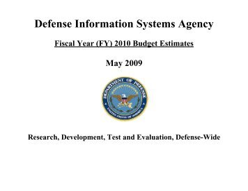 Defense Information Systems Agency - Office of the Under Secretary ...