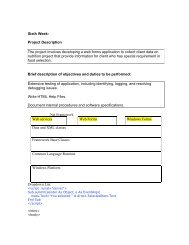 Sixth Week: Project Description The project involves developing a ...