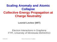 Scaling Anomaly and Atomic Collapse Collective Energy ... - MIT