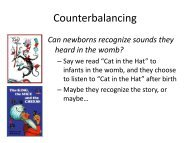 Slides: Short counterbalancing discussion for 9.85 - MIT