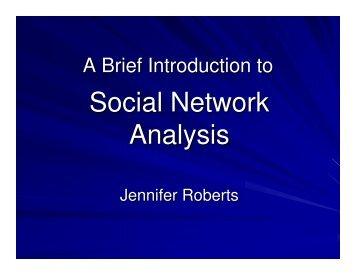 Social Network Analysis - MIT