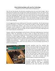 Wave Soldering Adapts with new Flux Technology - Henkel