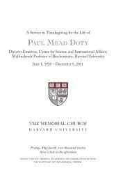 Paul Doty Memorial Service - Belfer Center for Science and ...