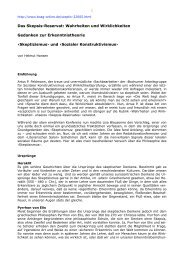 Skeptizismus - Bochumer Arbeitsgruppe für Sozialen Konstruktivismus