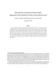Rural Roads and Intermediated Trade: Regression ... - MIT