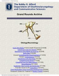 Grand Rounds Archive - Otology/Neurotology - Famona Site