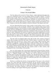 1 Reconstructive Plastic Surgery Converse Preface to ... - Famona Site