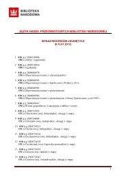 Wykaz rekordów usuniętych 6-12.01.2012