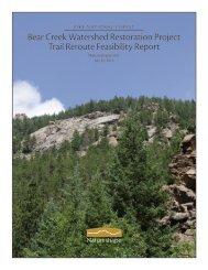 Bear Creek Watershed Restoration Project Trail Reroute Feasibility ...