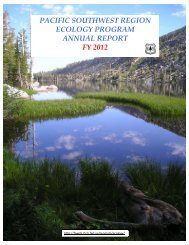 pacific southwest region ecology program annual report fy 2012