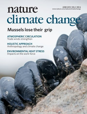 Mussel byssus attachment weakened by ocean acidification
