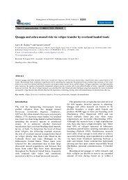 Quagga and Zebra Mussel Risk Via Veliger Transfer by Overland ...