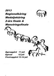 Regionalkåring/Medaljekåringskatalog - Fjordhesten Danmark