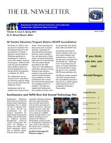 EIL Newsletter Spr11 Issue 2.2 - Southeastern Oklahoma State ...