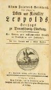 Leben und Karakter Leopolds, Herzogs zu Braunschweig-Lüneburg ... - Page 5