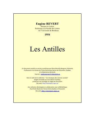 Les Antilles - Les Classiques des sciences sociales - UQAC
