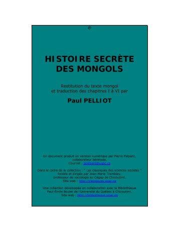 Histoire secrte des Mongols - Les Classiques des sciences sociales ...