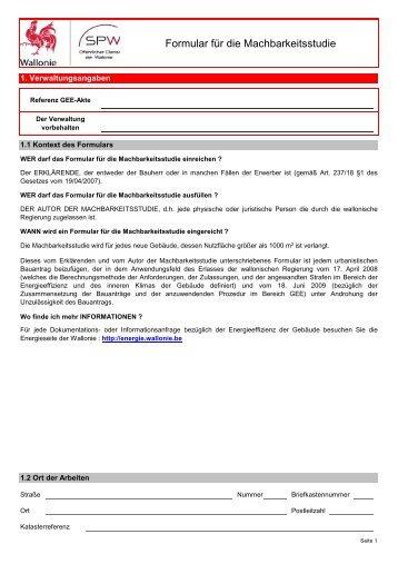 110126-Etude de faisabilité_DE - Energie Wallonie