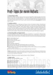 Profi-Tipps für euren Aufsatz - Eltern.de