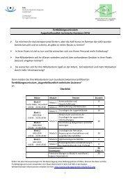 Fortbildungscurriculum Augenheilkundlich technische Assistenz (ATA)