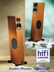 hifi &records - Audio Physic