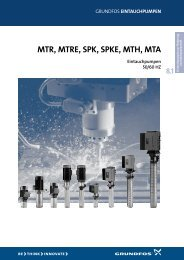 MTR, MTRE, SPK, SPKE, MTH, MTA - Grundfos