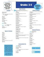 Summer 2013 Reading List 3-5 - Frederick County Public Schools