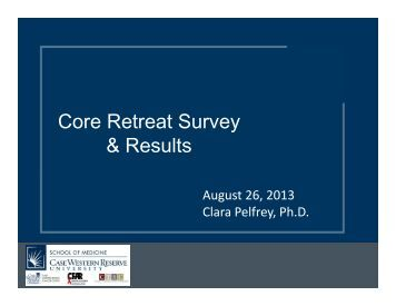 Core Retreat Survey & Results - Case Western Reserve University ...